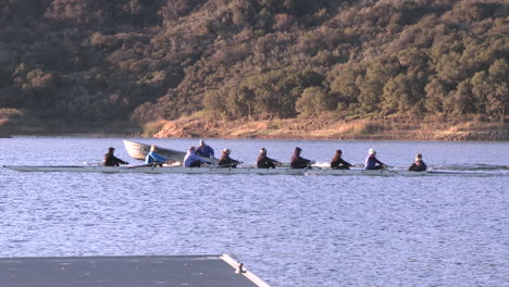 Eight-person-rowing-sweep-and-double-scull-on-Lake-Casitas-in-Oak-View-California-1