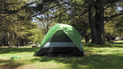 Time-lapse-of-a-person-setting-up-a-tent-at-Plaskett-Creek-Campground-in-Big-Sur-California