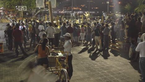 Time-lapse-of-a-crowd-at-a-boxing-event-in-Zihuatanejo-Mexico