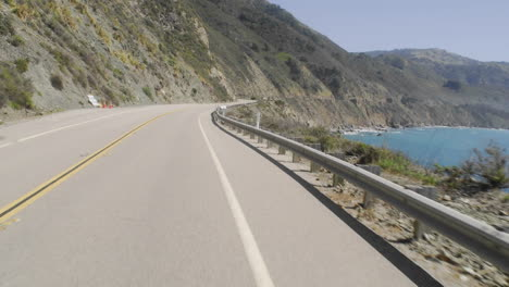 Point-of-view-time-lapse-driving-on-Pacific-Coast-Highway-in-Big-Sur-California