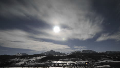 Time-lapse-of-night-sky-clouds-and-full-moon-over-the-Gore-Range-in-Silverthorne-Colorado
