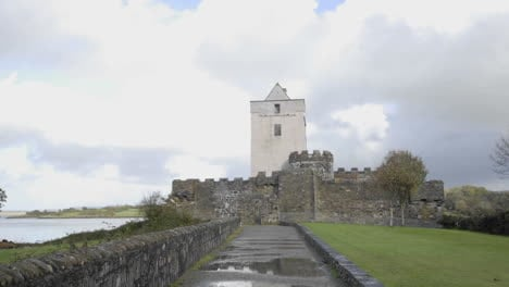 Time-lapse-of-clouds-blowing-over-Doe-Castle-near-Creeslough-in-County-Donegal-Ireland