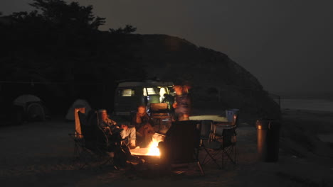 Time-lapse-of-people-around-a-campfire-at-Jalama-Beach-County-Park-California-1