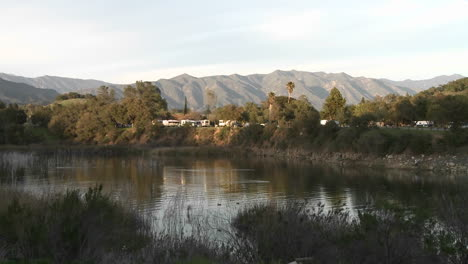 Zoom-in-on-RVs-camping-at-Lake-Casitas-Recreation-Area-in-Oak-View-California