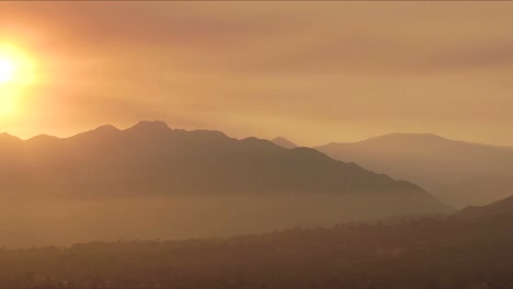 Time-lapse-of-a-smoky-sunset-from-wildfires-in-Ojai-California