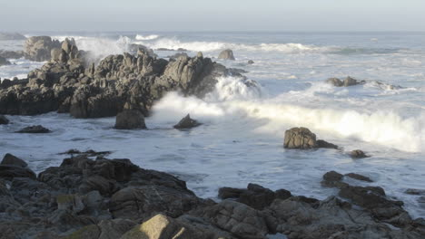 Wide-time-lapse-of-waves-breaking-on-the-rocks-at-Point-Pinos-in-Pacific-Grove-California