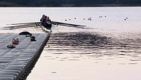 Eight-person-rowing-sweep-and-double-scull-on-Lake-Casitas-in-Oak-View-California-2