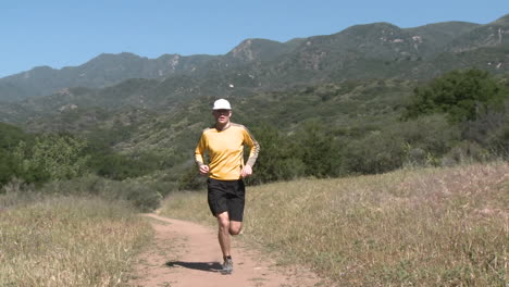 A-man-trail-running-on-the-Ventura-River-Preserve-in-Ojai-California