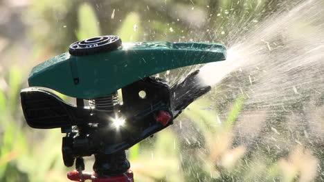 Closeup-on-a-sprinkler-shutting-off-in-Oak-View-California