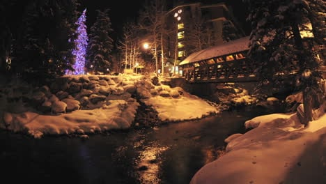 Night-time-lapse-of-Gore-Creek-flowing-through-Vail-Colorado-1