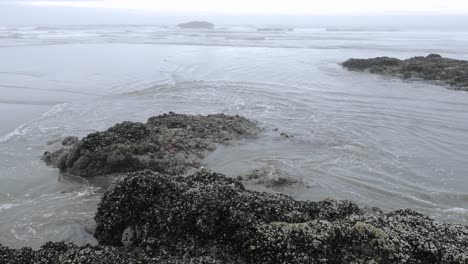 Time-lapse-of-waves-washing-on-Combers-Beach-in-Pacific-Rim-National-Park-Reserve-on-Vancouver-Island