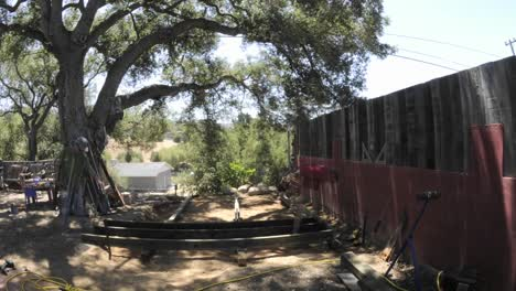 Time-lapse-of-two-men-building-a-deck-in-two-days-in-Oak-View-California