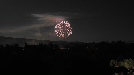 Zoom-in-time-lapse-of-Fourth-of-July-fireworks-in-Ojai-California