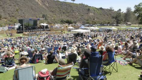 Full-day-time-lapse-of-a-crowd-at-an-outdoor-concert-in-Ventura-California