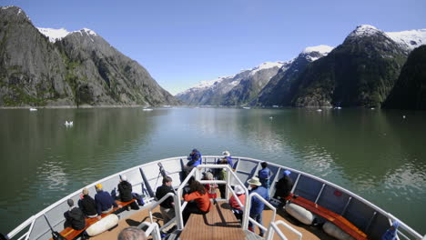Point-of-view-time-lapse-of-a-ship-cruising-up-Endicott-Arm-towards-Dawes-Glacier-in-Tracy-Arm-Alaska
