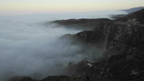 Slow-time-lapse-of-coastal-fog-at-amanecer-along-the-Santa-Ynez-Mountains-above-Montecito-California