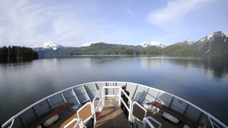 Point-of-view-time-lapse-from-a-ship-s-bow-cruising-into-Kelp-Bay-off-of-Baranof-Island-in-Southeast-Alaska