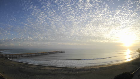 Time-lapse-of-clouds-and-waves-at-Ventura-Pier-in-Ventura-California