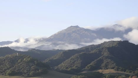 Time-lapse-of-a-storm-clearing-across-the-Santa-Ynez-Mountains-above-Oak-View-California