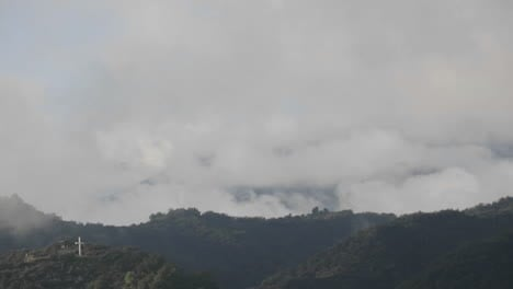 Time-lapse-of-a-storm-clouds-clearing-across-the-Santa-Ynez-Mountains-above-Oak-View-California