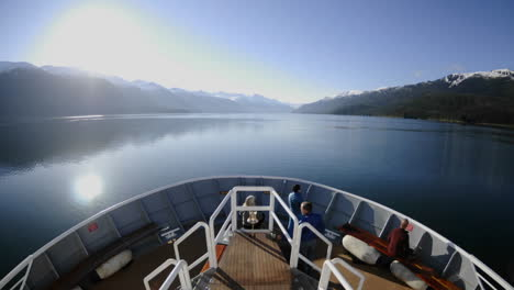 Point-of-view-time-lapse-of-a-ship-cruising-fast-up-Endicott-Arm-in-Tracy-Arm-Alaska