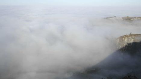 Closeup-time-lapse-of-coastal-fog-at-sunrise-along-the-Santa-Ynez-Mountains-above-Montecito-California