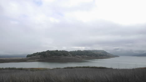 Time-lapse-of-a-storm-clouds-clearing-over-Lake-Casitas-in-Oak-View-California
