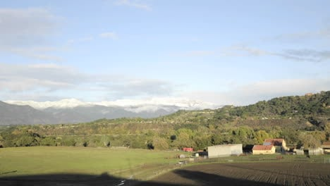 Time-lapse-motion-of-a-snowstorm-clearing-over-the-Santa-Ynez-Mountains-from-Oak-View-California