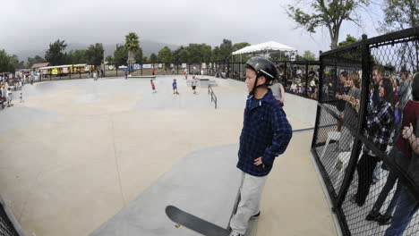 Slow-time-lapse-of-skateboarders-at-the-grand-opening-of-Ojai-Skate-Park-in-Ojai-California