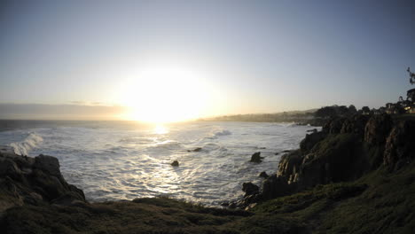 Time-lapse-of-waves-and-sunrise-over-Pacific-Grove-Marine-Garden-Park-in-Pacific-Grove-California