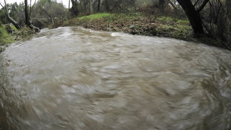 Time-lapse-of-San-Antonio-Creek-flooding-during-a-storm-in-Ojai-California