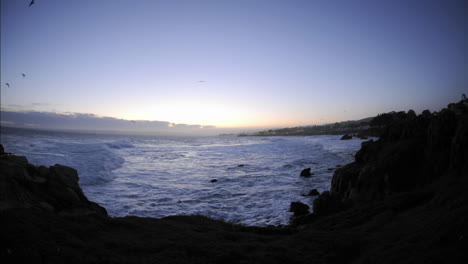 Time-lapse-of-waves-before-sunrise-over-Pacific-Grove-Marine-Garden-Park-in-Pacific-Grove-California