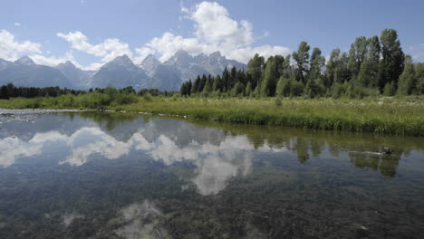 Time-lapse-of-clouds-at-Schwabacher-Landing-in-Grand-Teton-National-Park-Wyoming