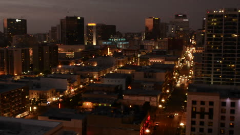 Downtown-San-Diego-at-night-from-above-in-the-National-Historic-District-in-the-Gaslamp-Quarters-in-San-Diego-California