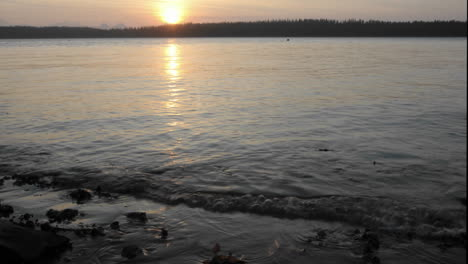 Time-lapse-of-the-sun-setting-into-Bartlett-Cove-in-Glacier-Bay-National-Park-Alaska