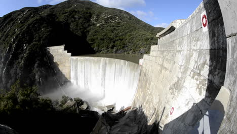 Wide-angle-shot-of-Matilija-Creek-spilling-over-the-obsolete-Matilija-Dam-after-a-spring-storm-near-Ojai-California