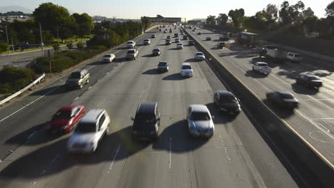 Pomona-Freeway-Interstate-60-from-a-pedestrian-overpass-in-East-Los-Angeles-California