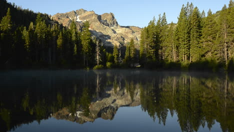 A-morning-reflection-of-the-Sierra-Buttes-on-Sand-Pond-in-Tahoe-National-Forest-California