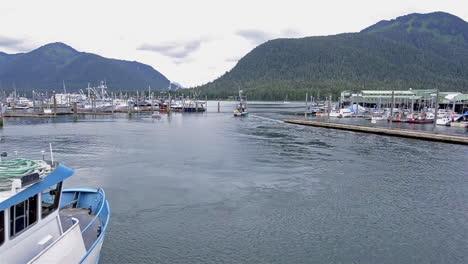 Nice-shot-of-a-fishing-boat-in-Alaska-entering-Petersburg-Dock
