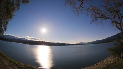 Time-lapse-of-the-moon-rising-over-Lake-Cachuma-in-Santa-Barbara-county-California