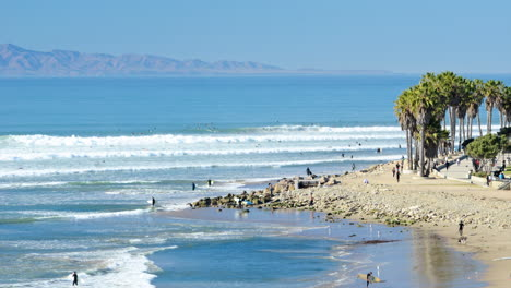 Time-lapse-of-surfers-in-the-waves-at-Surfers-Point-Ventura-California-1