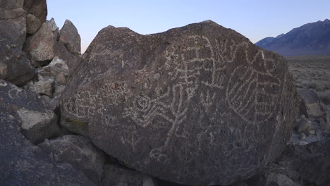 Dolly-shot-time-lapse-at-dawn-of-a-sacred-Owens-Valley-Paiute-petroglyph-site-in-the-Eastern-Sierras-California