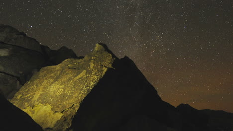 Dolly-shot-time-lapse-at-night-of-a-sacred-Owens-Valley-Paiute-petroglyph-site-in-the-Eastern-Sierras-California-1