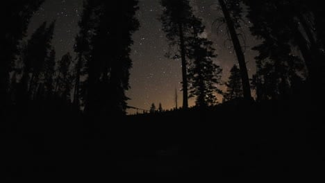 Motion-night-time-lapse-of-the-milky-way-and-stars-above-a-campfire-at-Sardine-Lake-Campground-in-Sierra-Buttes-California-1