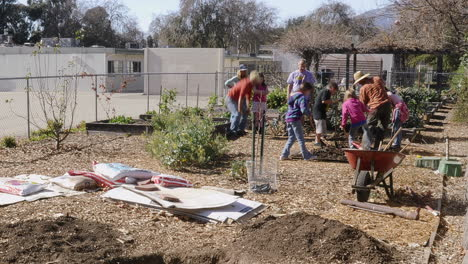 Time-lapse-of-Garden-Club-students-planting-a-tree-in-the-Meiners-Oaks-School-garden-in-Ojai-California