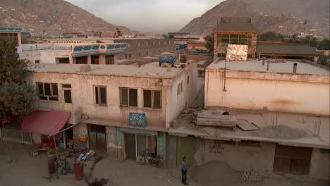 Tilt-down-of-neighborhood-of-Karte-Char-in-Kabul-Afghanistan
