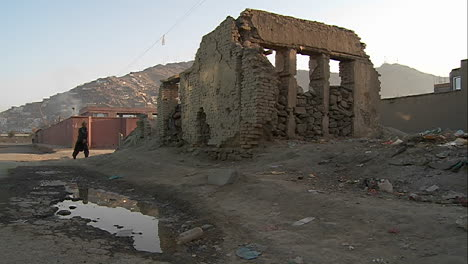 A-bombed-out-neighborhood-in-Kabul-Afghanistan-1