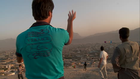 A-fierce-kite-battle-on-a-hill-overlooking-Kabul-Afghanistan