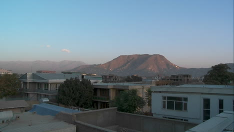 Slow-pan-of-residential-neighborhood-in-Kabul-Afghanistan