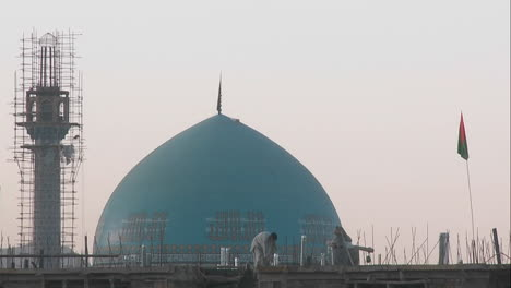 A-mosque-under-construction-in-Kabul-Afghanistan